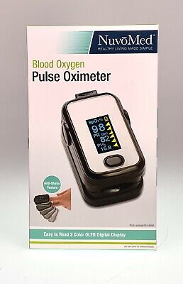 Nuvomed Blood Oxygen Pulse Oximeter Anti-shake Feature 2 Color Oled Digital New