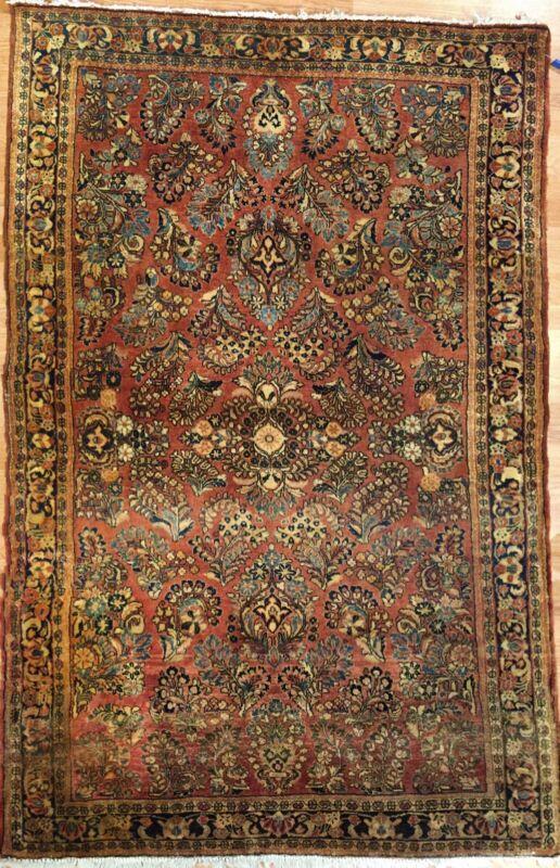 Sensational Sarouk - 1930s Antique Persian Rug - Oriental Carpet - 4.1 X 6.3 Ft.