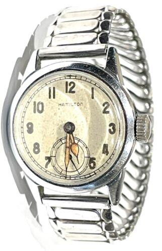 """ORIGINAL & VG Ord. Dept. Hamilton 17-Jewel Wristwatch With """"Tea Cup"""" Case"""