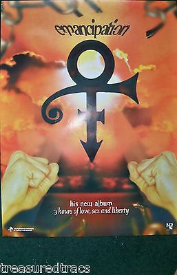 Original 1996 UK Prince Emancipation NPG Promo Poster NOS