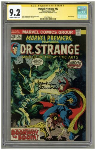 Marvel Premiere 12 (CGC Signature Series 9.2) OW/W pages; Frank Brunner (j#724)