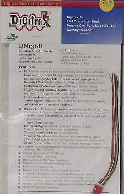 Digitrax N & HO Scale DN136D 1.0 AMP DCC Decoder Hardwire Free Shipping