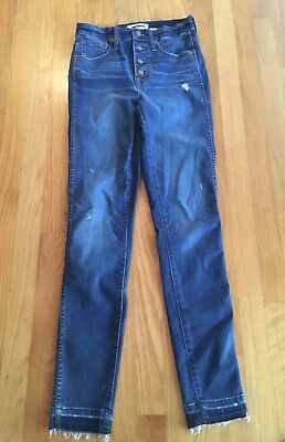 "NWT Madewell Tall 10"" High-Rise Skinny Jeans Drop Hem Edition 26 #H6320 $135"