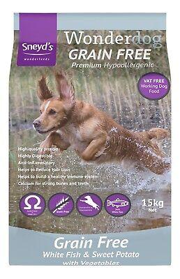 Wonderdog Grain Free White Fish & Sweet Potato 15kg Dry Dog Food