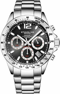 Brand New Stuhrling Men's Aquadiver Japanese Quartz Chronograph Stainless Steel