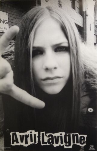 Avril Lavigne 23x35 Black and White Poster 2002