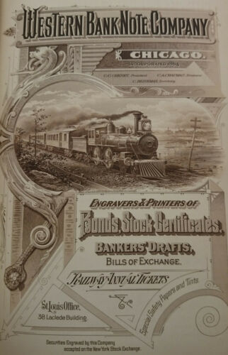 Western Bank Note Company Card Stock Specimen Ads 1890 POOR