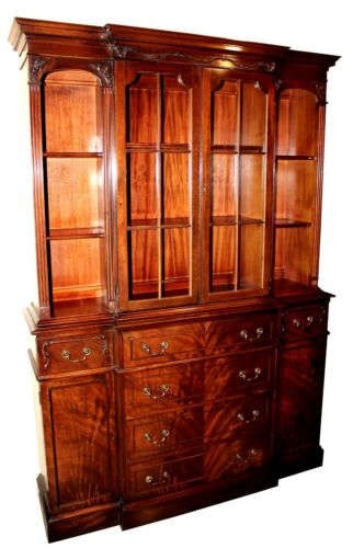 Vintage Saginaw Furniture Co. Mahogany Bubble Glass China Cabinet