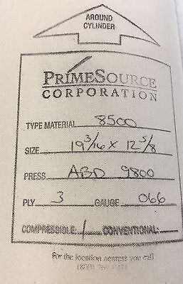 Abdick Offset Printing Press Blankets19-316 X 12-58