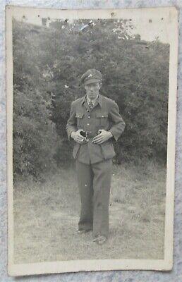 Carte photo militaire Soldat Belge prisonnier en Allemagne Stalag VI/A 40-45 WW2