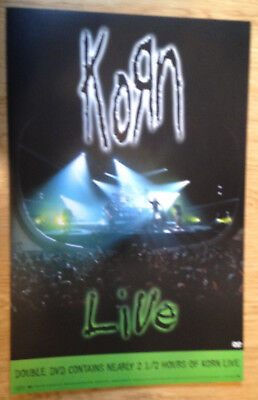 KORN Live 11x17 original record store promo poster 2sided EPIC