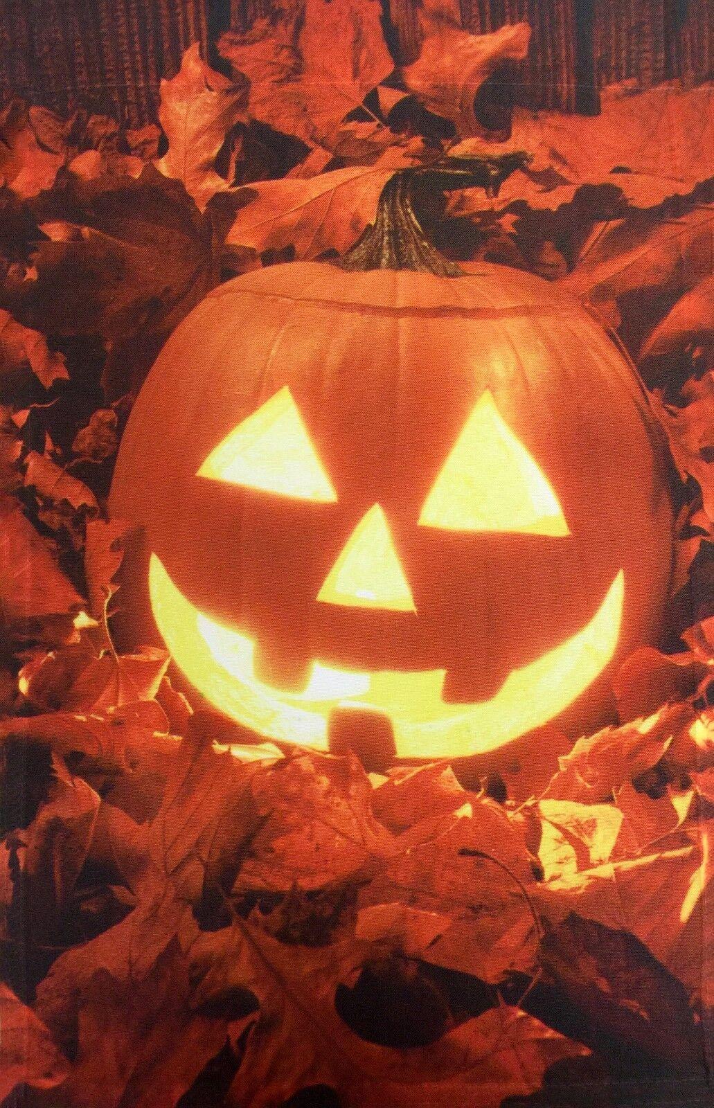 halloween jack o lantern pumpkin garden flag