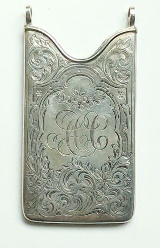 Antique Edwardian/Victoria Sterling Silver Card Holder