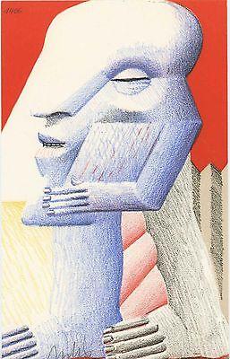 """Horst Antes """"Kleine Figur"""", 1977 Lithografie handsigniert"""