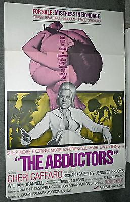 THE ABDUCTORS original 1972 SEXPLOITATION one sheet movie poster CHERI CAFFARO