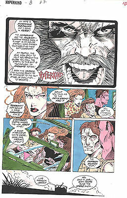 Clive Barker HYPERKIND #8 pg 7 original hand-painted color guide art 1995 signed