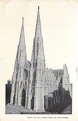 St. Patricks Cathedral New York NY undivided 1900's Postcard