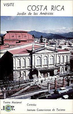 Costa Rica Jardin de las Americas Amerika ~1960/70 Teatro Nacional Postcard