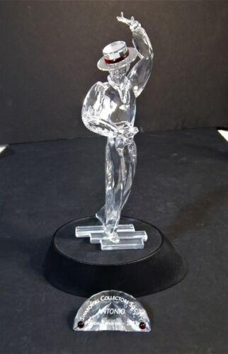 Swarovski Crystal Figurine - Antonio - 2003 Magic Of Dance With Stand And Plaque