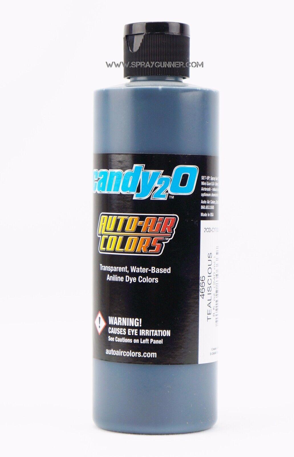 Createx Auto-air Candy2o Tealiscious 4666 8oz airbrush ready