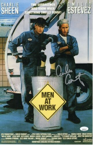 Emilio Estevez Autograph Signed 11x17 Photo - Men at Work (JSA COA)