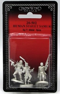 Ral Partha 20-502 Human Street Samurai (Shadowrun) Mercenaries Shadowrunners NIB