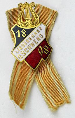 Sängerbund Liederkranz 1898 Gschwend Musikverein Mitgliedabz Ehrenabz Brosche