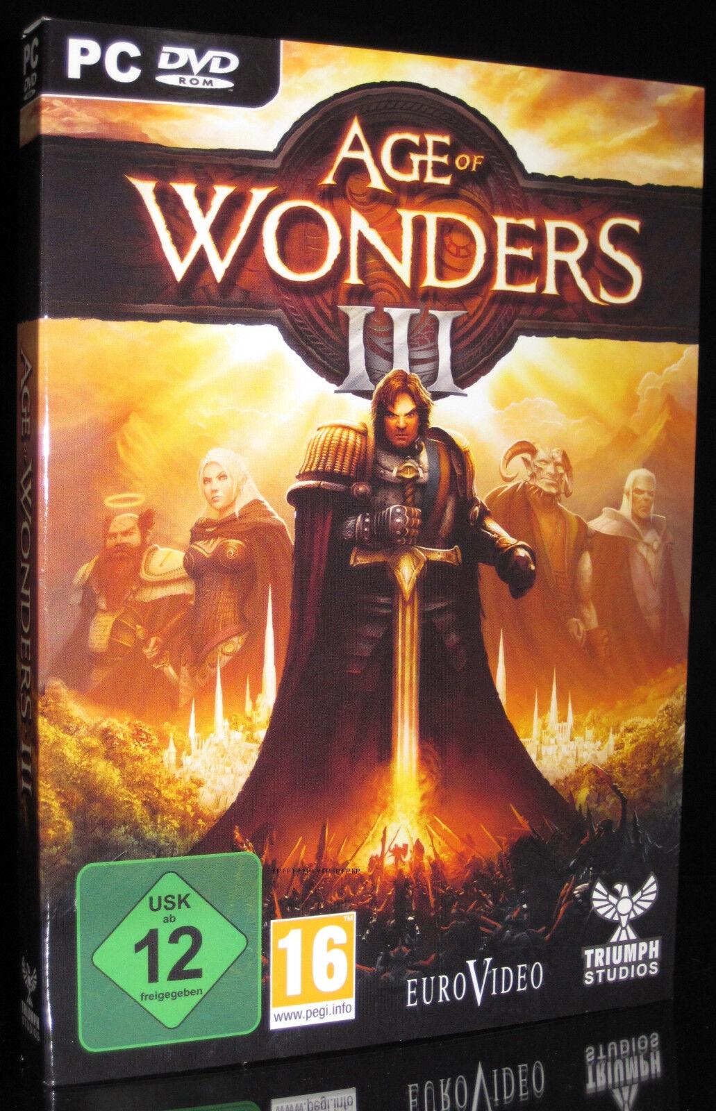 PC DVD-ROM AGE OF WONDERS 3 - TOP Fantasy + Strategie-Rollenspiel *** NEU ***