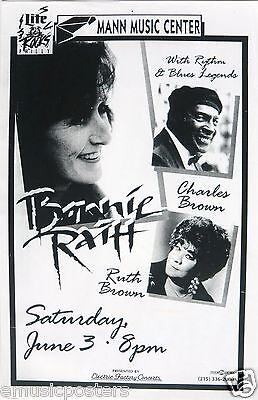 BONNIE RAITT / CHARLES BROWN / RUTH BROWN PHILADELPHIA CONCERT TOUR POSTER