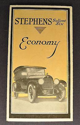 1921 Stephens Salient Six Sales Brochure Folder Excellent Original 21