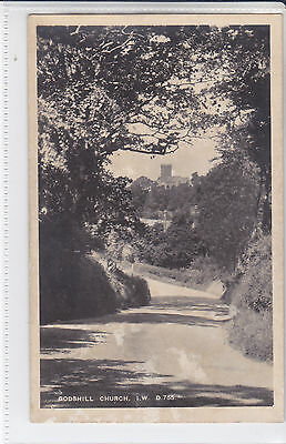BAY SERIES POSTCARD GODSHILL CHURCH, ISLE OF WIGHT