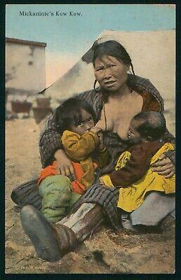 Mayfairstamps Art Mickaninies Kow Kow Children Breastfeeding Postcard wwo_64713
