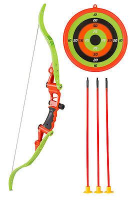 Kinder 41cm-Pfeil und 70cm-Bogen 23cm-Zielscheibe Fasching, Robin Hood, Indianer