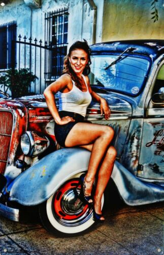 Country Girl / Pickup Truck Metal Sign