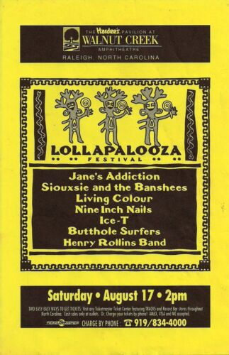 LOLLAPALOOZA U.S. 1991 POSTER: Jane
