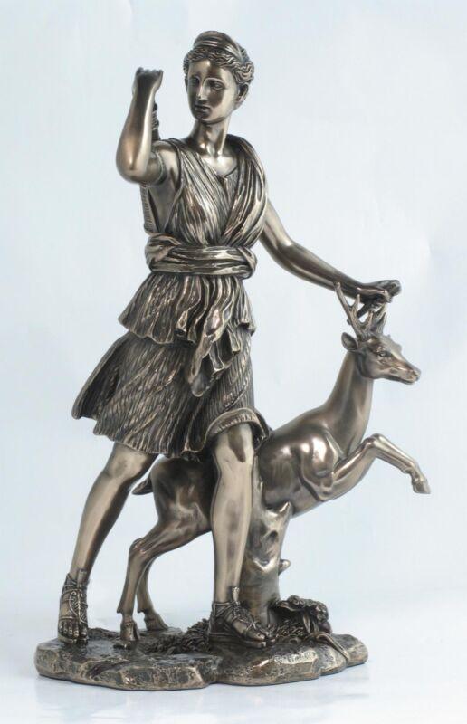 Sculpture+goddess+Diana+Artemis+antique+style+collectors+piece+greek+forest+art