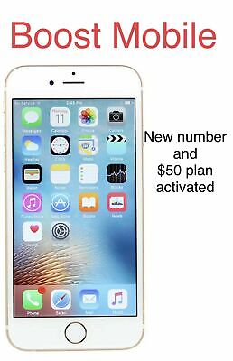 iphone 6s plus Boost Mobile 128GB+new Number+$50 Unlimited Plan Free Month activ Boost Mobile Unlimited