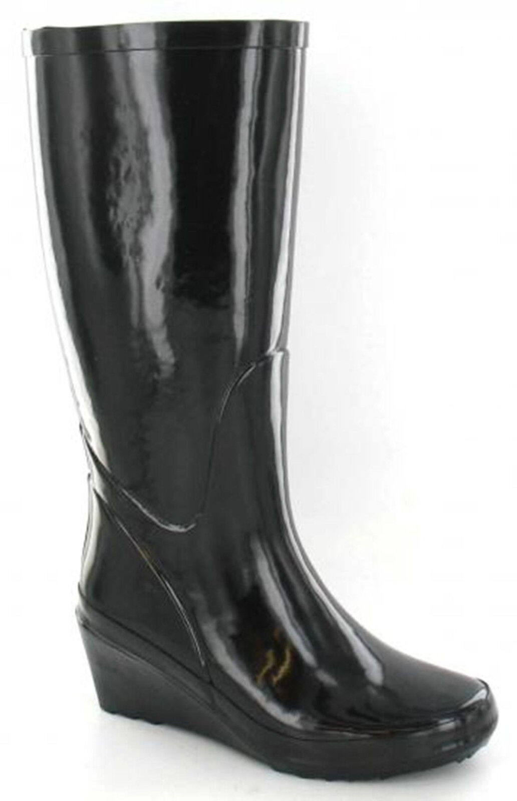 Black Festival Wellies Rain Snow Flower Print Wellington Boots