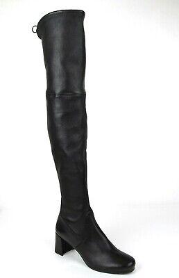 Stuart Weitzman Hinterland Nero Plonge Black Leather Stretch Over-the-knee Boot