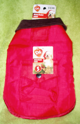 NWT Pet Central Dog Winter Pocket Jacket ~ Size Small Red