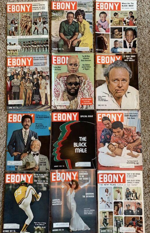 1972 Ebony Magazine Completet Lot Diana Ross Vida Blue The New Films Black Male