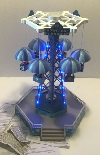 Lemax Snowflake Paradrop 2013 Carnival Fair Animated Lights Sounds Rare WORKS!