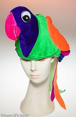 Parrot Hat Colorful Bird Novelty Hat Margaritaville Tropical - Fun Parrot Hat