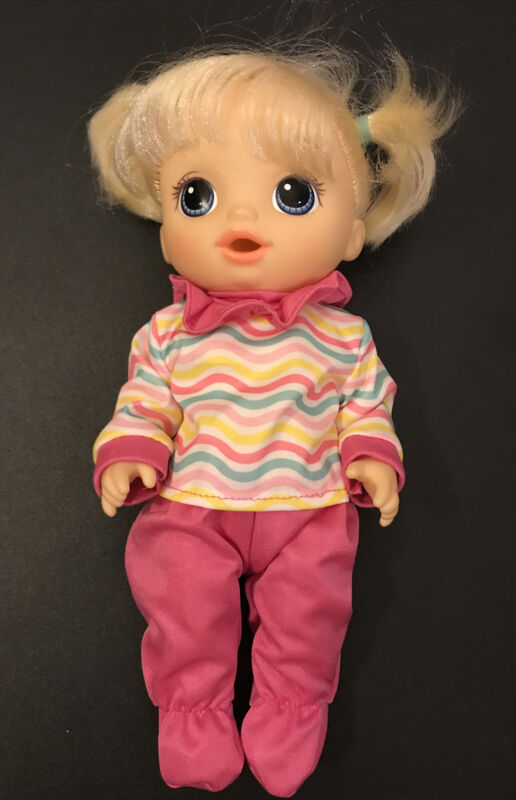 """12"""" 13"""" Kids Doll Clothes For Baby Alive 2 Piece Pink Footed Sleeper Set"""