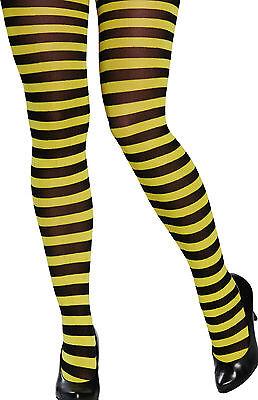 �r Damen NEU - Zubehör Accessoire Karneval Fasching (Bienen-strumpfhose)