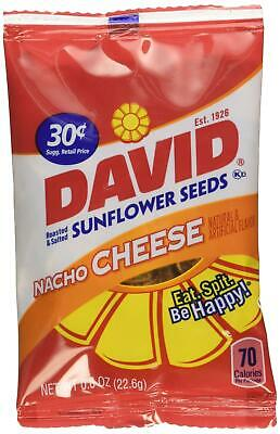 Used, David Seed Sunflower Seeds, Nacho Cheese, 0.8 Ounce, 36 count for sale  Millburn