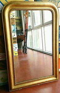 Specchiera dorata francese dell 39 800 stile luigi filippo con specchio originale ebay - Specchio in francese ...