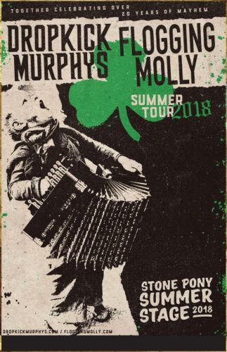 DROPKICK MURPHYS | FLOGGING MOLLY 2018 Tour Ltd Ed RARE Poster +FREE Punk Poster