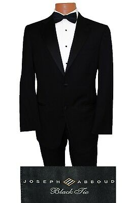Boys Size 14 Joseph Abboud Wool Kids Tuxedo Suit Jacket & Pant Wedding Tux ](Boys Wool Suits)