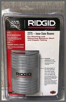 Inner-outer Reamer Copper Stainless Steel Tubing 12 - 2 Ridgid 227s 29993